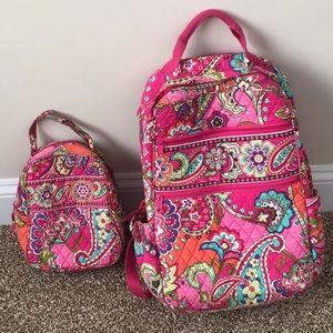 Vera Bradley backpack and lunch bag